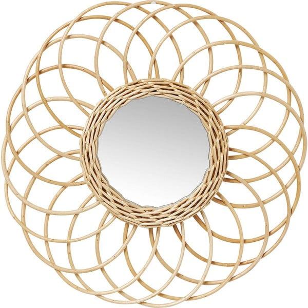 Swing fali tükör rattan keretben, Ø 34 cm - Kare Design