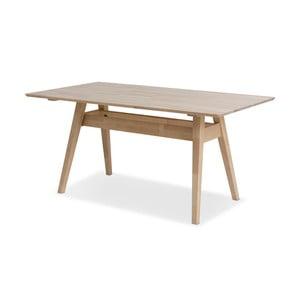 Notte kézzel készített tömör nyírfa étkezőasztal, 75 x 160 cm - Kiteen