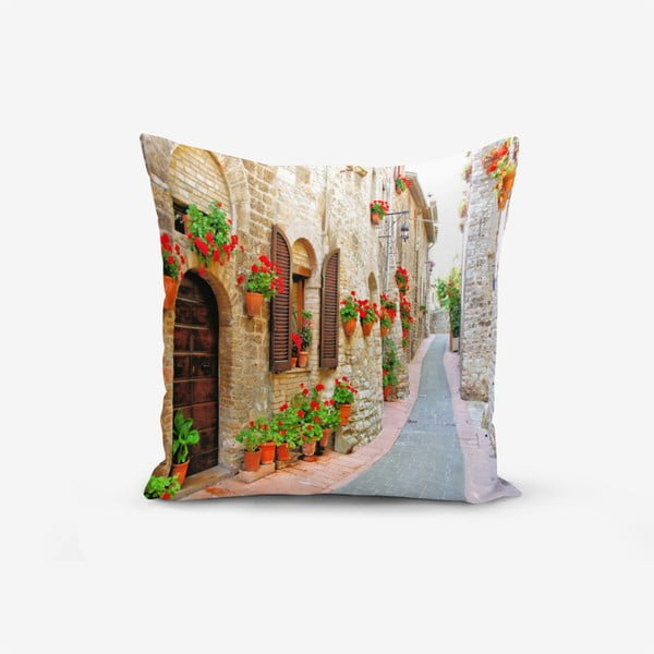 Colorful Street pamutkeverék párnahuzat, 45 x 45 cm - Minimalist Cushion Covers