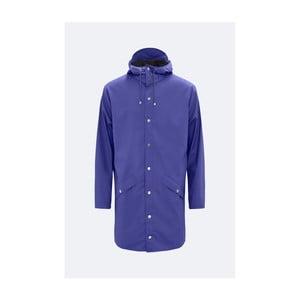 Fialová unisex bunda s vysokou voděodolností Rains Long Jacket, velikost S/M