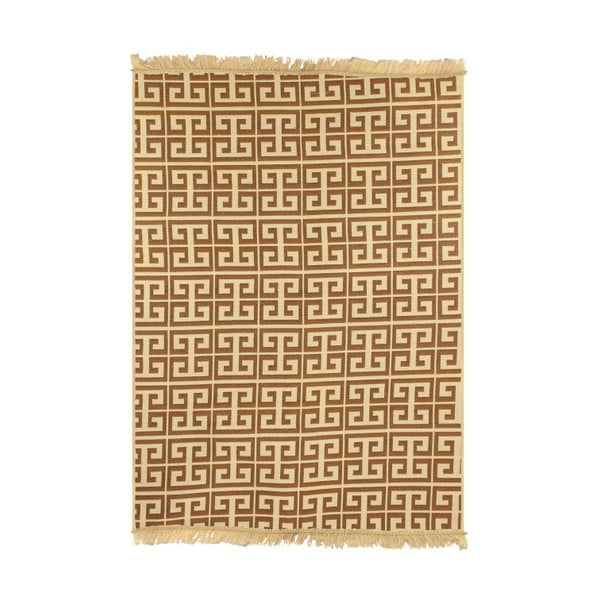 Ya Rugs Tee barna-bézs szőnyeg, 120 x 180 cm