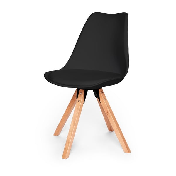 Eco fekete szék, bükkfa lábakkal - loomi.design