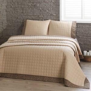 Jolly bézs kétszemélyes ágytakaró párnahuzattal, 240x250 cm