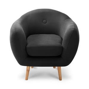 Fekete fotel - Scandi by Stella Cadente Maison