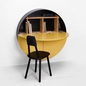 Pill sárga-fekete többfunkciós fali asztal - EMKO