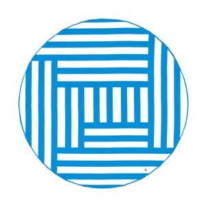 Kék csíkos kerek, gyorsan száradó fürdőlepedő, ⌀ 190 cm - Dock and Bay