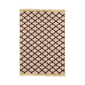 Yildiz borvörös-bézs szőnyeg, 80x150cm - Ya Rugs