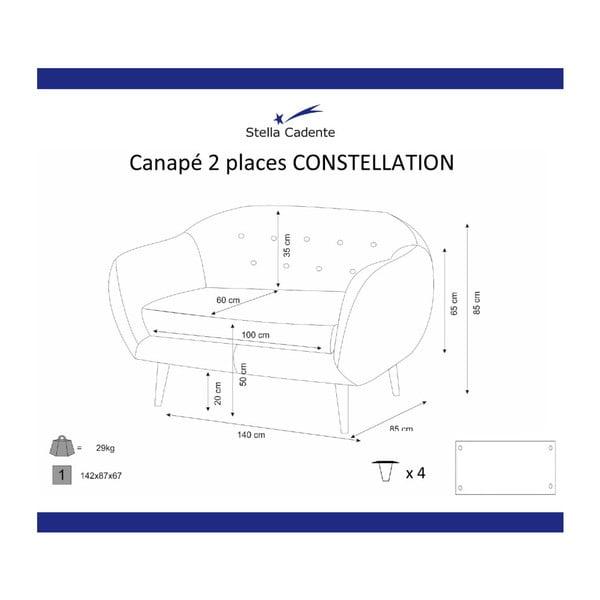 Constellation lila kétszemélyes ülőgarnitúra - Scandi by Stella Cadente Maison