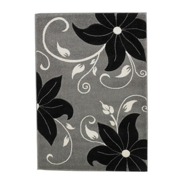 Verona fekete-szürke szőnyeg, 60 x 120 cm - Think Rugs