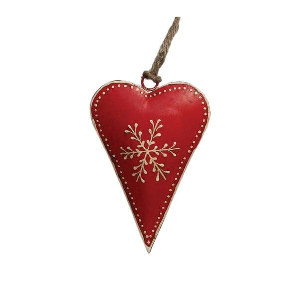 Snowflake piros karácsonyi dekoráció - Rex London