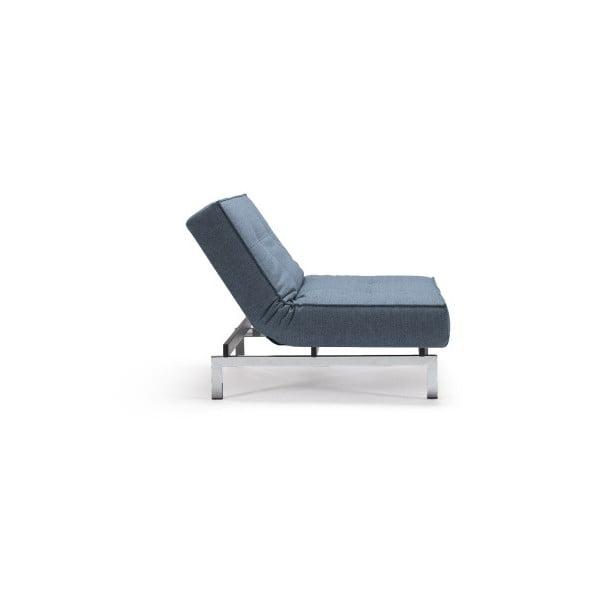 Splitback Mixed Dance Light Blue világoskék kinyitható fotel fém lábakkal - Innovation