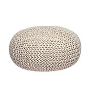 Knitted XL krémszínű kötött puff - LABEL51