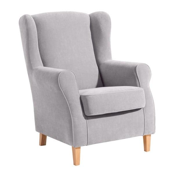 Lorris világos szürke füles fotel - Max Winzer