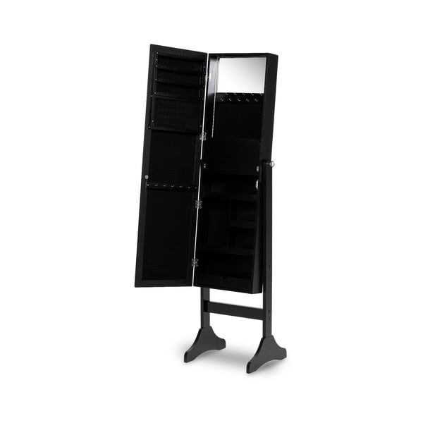 Bien fekete ékszertartó állvány, tükörrel - Chez Ro