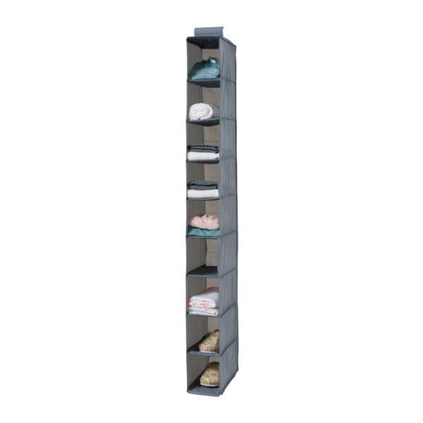 Pina szürke felfüggeszthető rendszerező 9 rekesszel, hossza 128 cm - Compactor