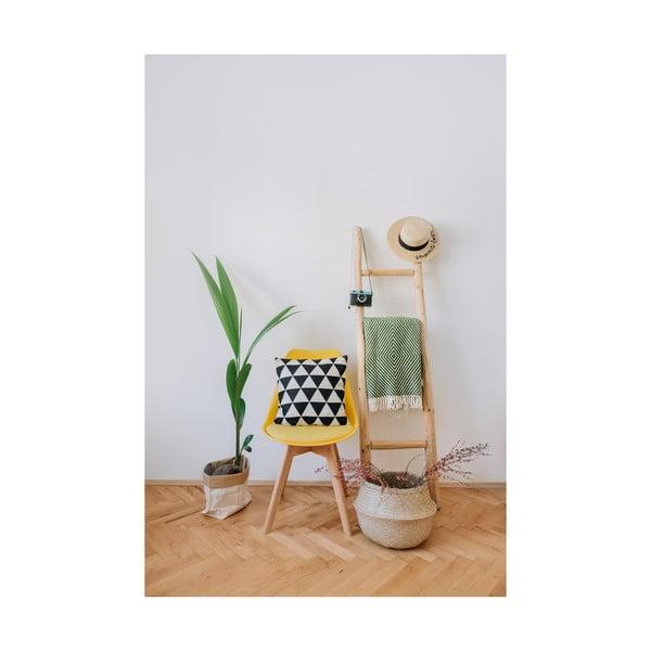 Retro sárga szék bükkfa lábakkal - loomi.design