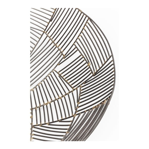 Outlines fekete acél tál, ⌀ 42 cm - Kare Design