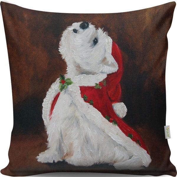 Christmas Dog díszpárna, 43 x 43 cm