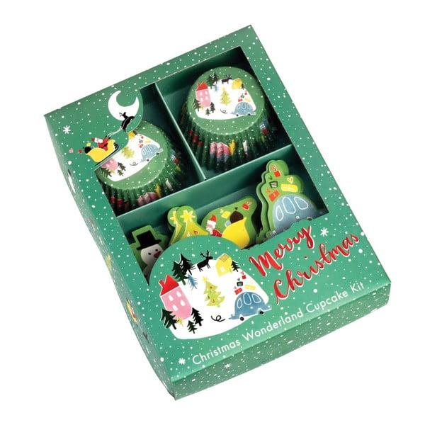 Wonderland muffin szett karácsonyi motívummal - Rex London