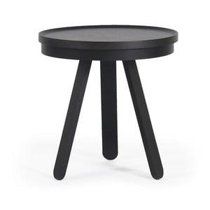 Batea S fekete kőrisfa dohányzóasztal tálcával - Woodendot
