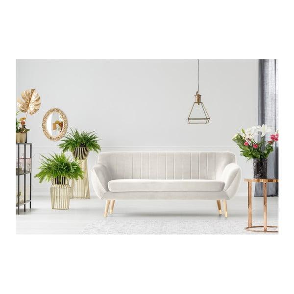 Benito krémszínű háromszemélyes kanapé - Mazzini Sofas