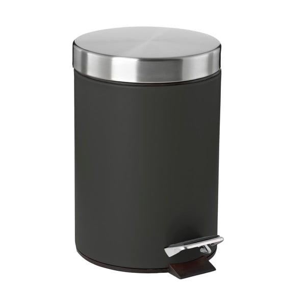 Confetti fekete pedálos szemetes, 3 l - Zone