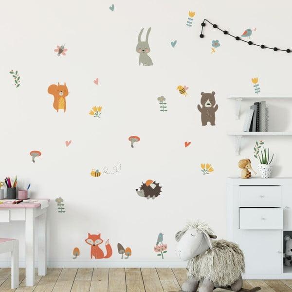 Funny Scandinavian Animals gyerek falmatrica szett - Ambiance