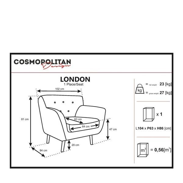 London zöld fotel - Cosmopolitan design