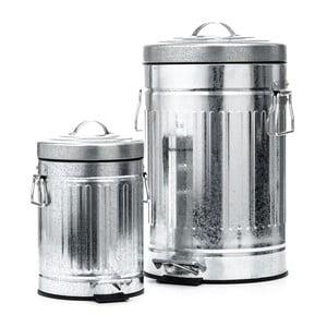 America 2 db ezüstszínű hulladékgyűjtő tartály - Tomasucci