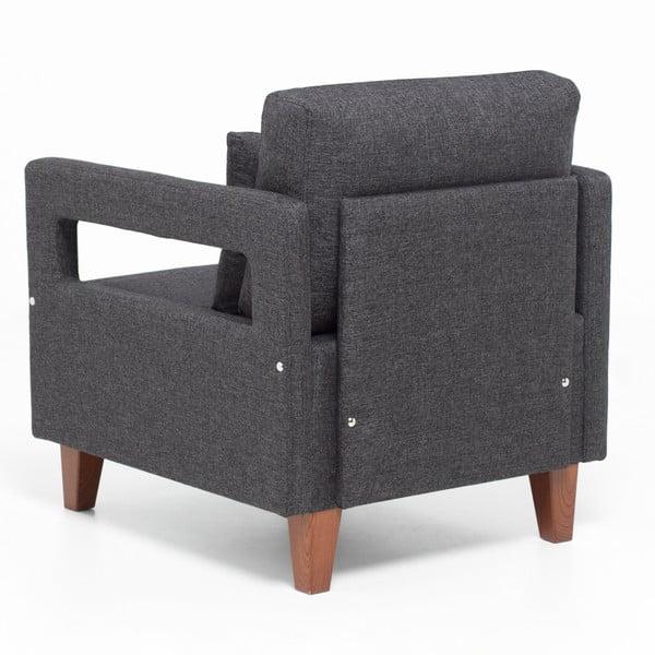 Home Monica szürke fotel kartámasszal - Balcab