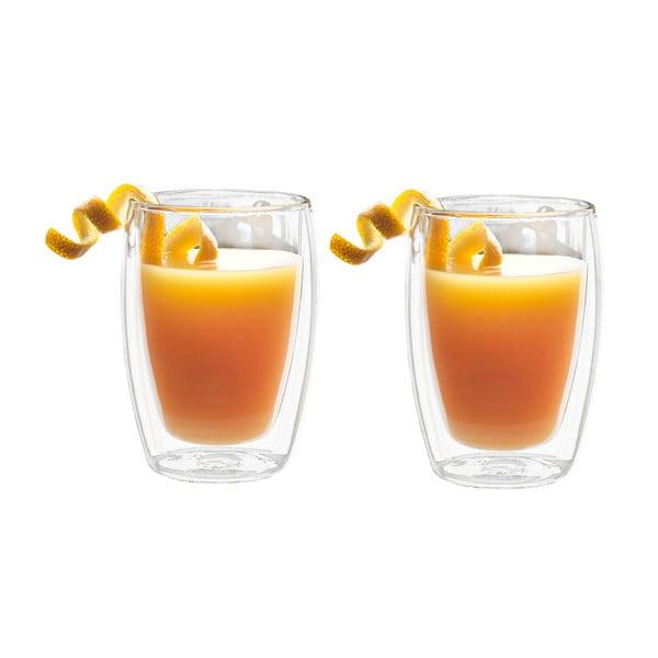 Juice 2 részes duplafalú üvegpohár szett, 270 ml - Bredemeijer