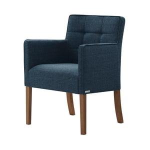 Modrá židle s tmavě hnědými nohami z bukového dřeva Ted Lapidus Maison Freesia