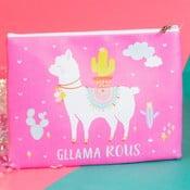 Llama Cosmetic Bag rózsaszín kozmetikai táska/pénztárca - Just 4 Kids