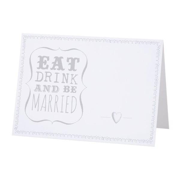 Be Married esküvői ültetőkártyák, 10 db