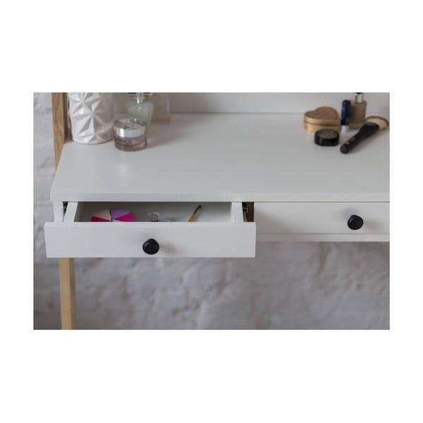 Leno fehér állvány fiókkal és tükörrel - Ragaba
