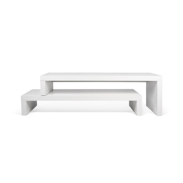 Cliff Walnut fehér variálható asztal - TemaHome