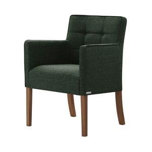 Zelená židle s tmavě hnědými nohami z bukového dřeva Ted Lapidus Maison Freesia