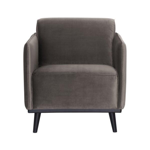 Velvet szürkésbarna fotel - BePureHome