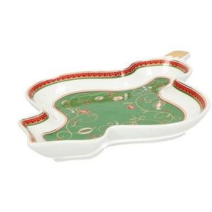 Tempo di Festa kínáló karácsonyi mintával, 19,5 cm hosszú - Brandani