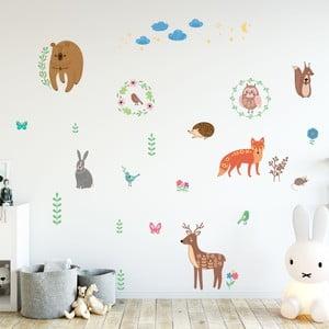 Scandinavian Animals of The Forest gyerek falmatrica szett - Ambiance