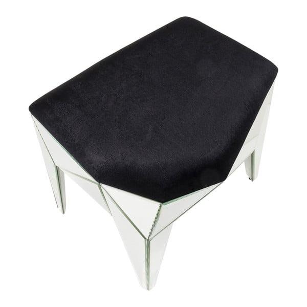 Stool Fun House fekete ülőke ezüstszínű részletekkel, 54 x 49 cm - Kare Design