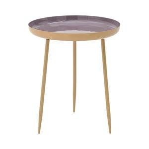 Simplo lila fém tárolóasztal, ⌀ 46 cm - InArt