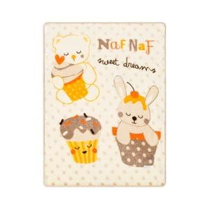 Sweet Dreams bézs mintás babatakaró, 80 x 110 cm - Naf Naf