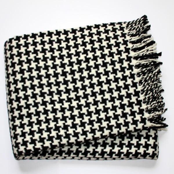 Pearls fekete pléd, 140 x 180 cm - Euromant