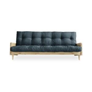 Indie Natural/Petrol Blue kék kinyitható kanapé - Karup Design