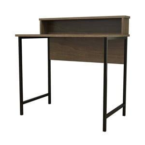 Esta sötétbarna íróasztal