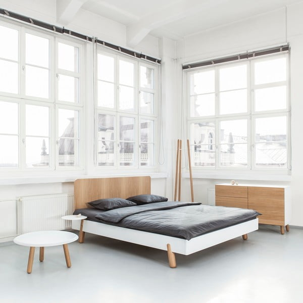 Mamma ágy fa ágytámlával , 160 x 200 cm - Jitona