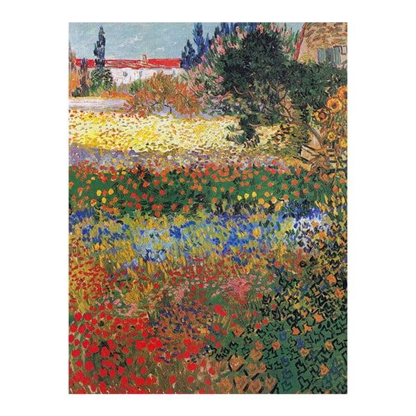 Vincent van Gogh - Flower garden festményének másolata, 40 x 30 cm