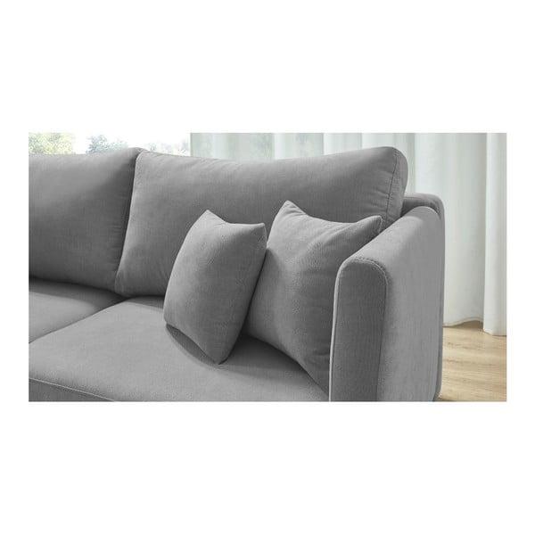 Triplo szürke háromszemélyes kinyitható kanapé - Bobochic Paris