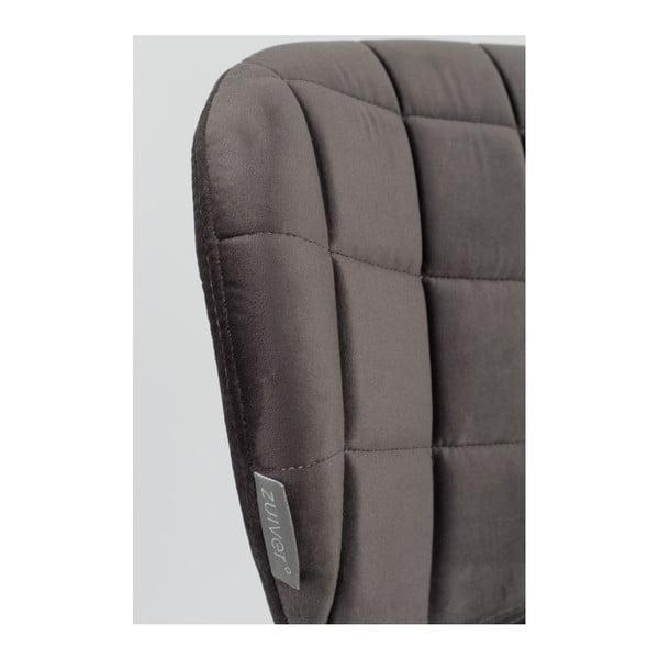 OMG Velvet szürke szék, 2 db - Zuiver